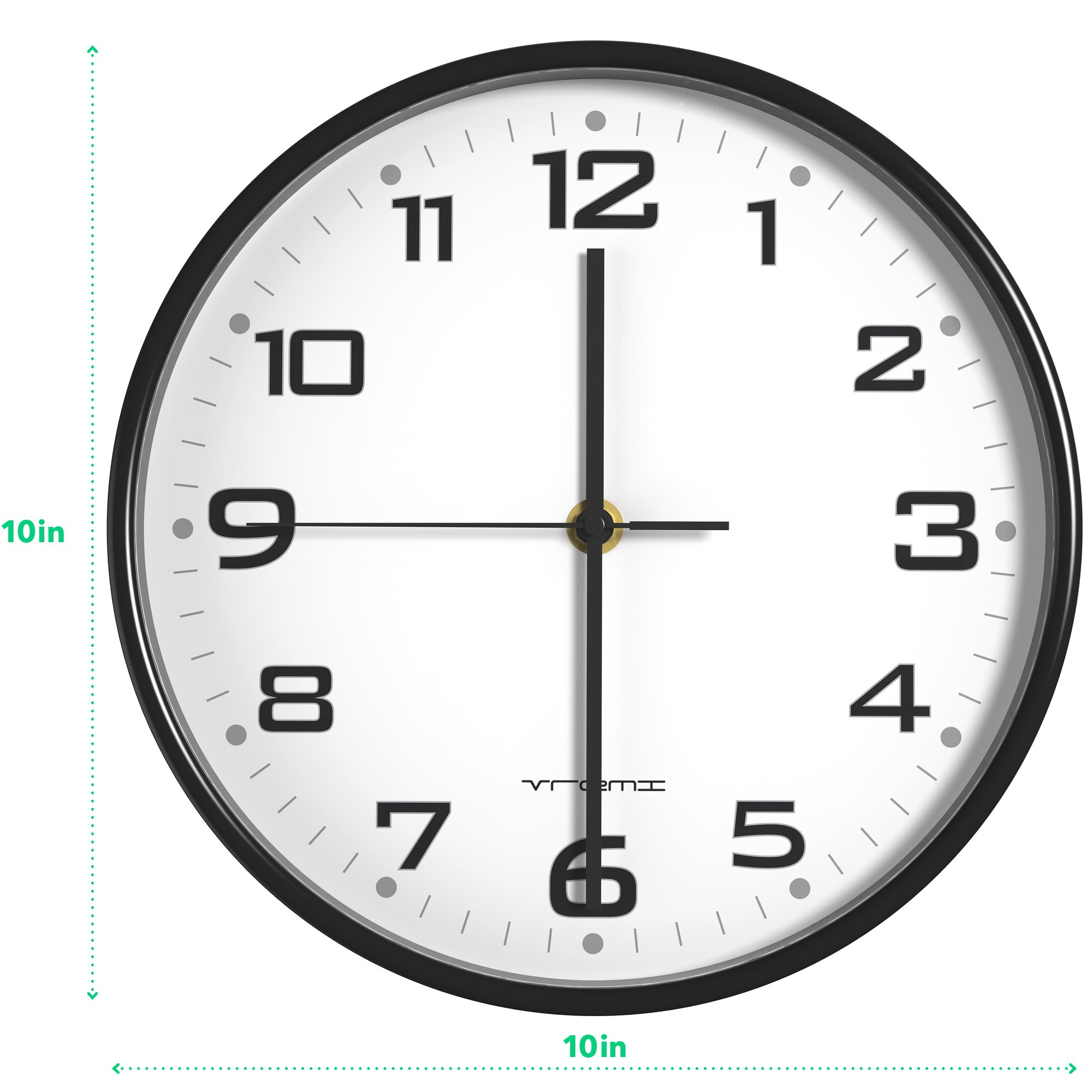 Colorful Analog Clock Great for Home Office Classroom or Garage AA Battery Operated Easy to Install Non Ticking Indoor Decorative Easy Read Red Vremi 10 inch Silent Universal Round Wall Clock