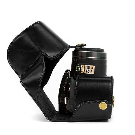 Amazon.com: MegaGear Ever Ready bolsa de piel negro funda ...