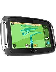 TomTom Rider 400 Motorradnavigationsgerät (10,9 cm (4,3 Zoll) Display, Free Lifetime Map, Europa 45, kurvenreiche Strecke, Lifetime TomTom Traffic) schwarz
