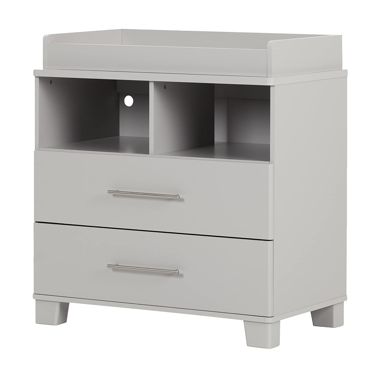 South Shore Furniture Cuddly Changing Table, Soft Gray 10514