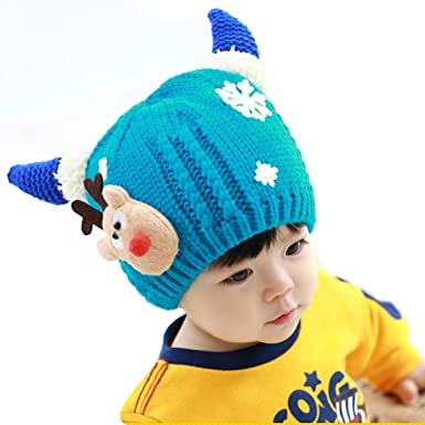 f24c0e25134 Fletion Children Winter Warm Knit Beanie Cap Cute Baby Girls Boys ...