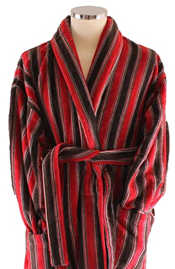 9a4f0ee73c Bown of London Mens Ely Dressing Gown - Red Rust Brown  Amazon.co.uk ...