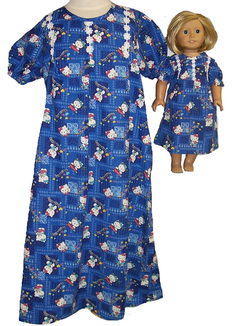 Size 6 Matching Girls Girls and 6 Doll Kitty and Nightgown B00ZNDLR4M, PetitPoche:dd838436 --- arvoreazul.com.br