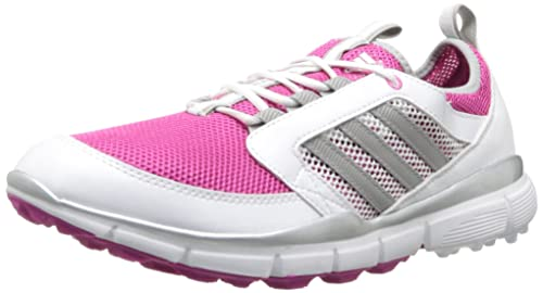 adidas Women's Adistar Climacool Golf Shoe,Bahia Magenta/Metallic Silver/ White,5.5