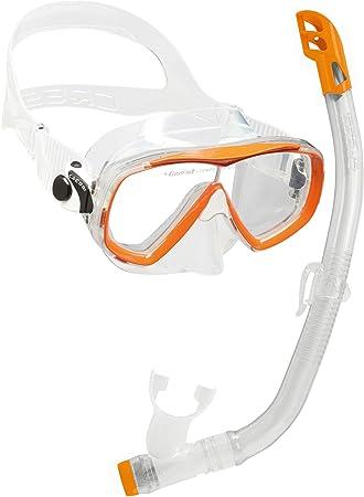 Cressi Set Estrella VIP Jr Kit de Snorkeling, Unisex niños