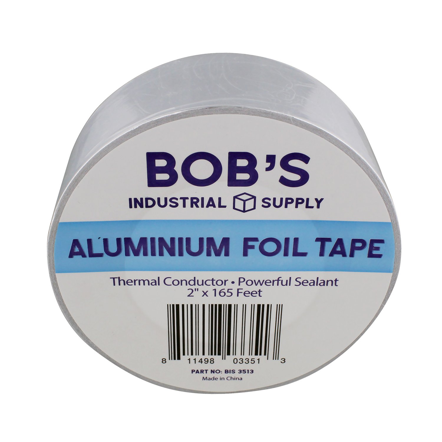 "Bob's 2"" inch Aluminum Foil Tape – Pipe Wrap Insulation Heat Resisting Thermal Tape Silver Heat Reflective Duct Tape"