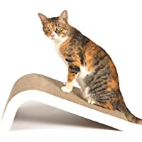 LIKEA Cat Scratcher, Incline Scratching Pad Post with Catnip【Superior Cardboard & Construction, Multiple Scratching Angles to Match Your Cat's Preference