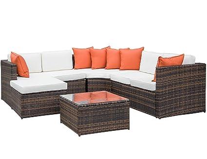 Stupendous Amazon Com 5 Piece Wicker Furniture Set Julyfox Indoor Creativecarmelina Interior Chair Design Creativecarmelinacom