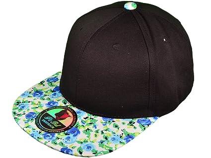 66a83129db3 Amazon.com   Wholesale Cotton Blank Flat Bill Floral Snapback Hats ...
