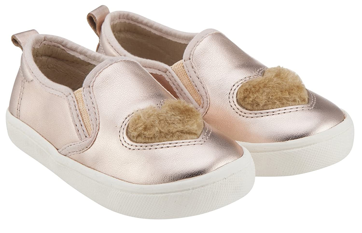 Old Soles Girl's Hoff Heart Soft Plush Fur Heart Upper Smooth Leather Slip  On Loafer Sneaker: Amazon.ca: Shoes & Handbags