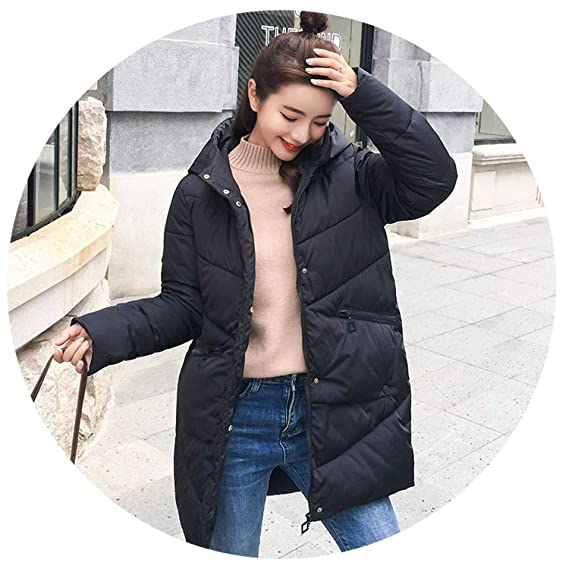 Long Down Parkas Women Down Jacket Winter Coat Cotton Padded Jacket Woman Winter Jacket Coat Female New 2018 at Amazon Womens Coats Shop