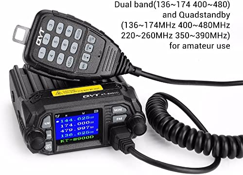 QYT KT-8900D Dual Band Mini MobileTwo-Way Radios