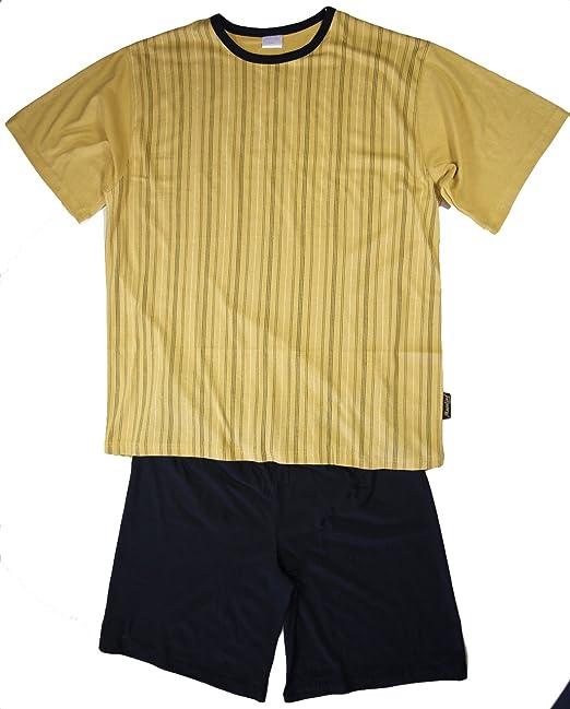 Corta Pijama, hombre Pijama, Shorty, parte superior de rayas, pantalón corto unifarbige, talla 46/48 hasta 58/60: Amazon.es: Ropa y accesorios