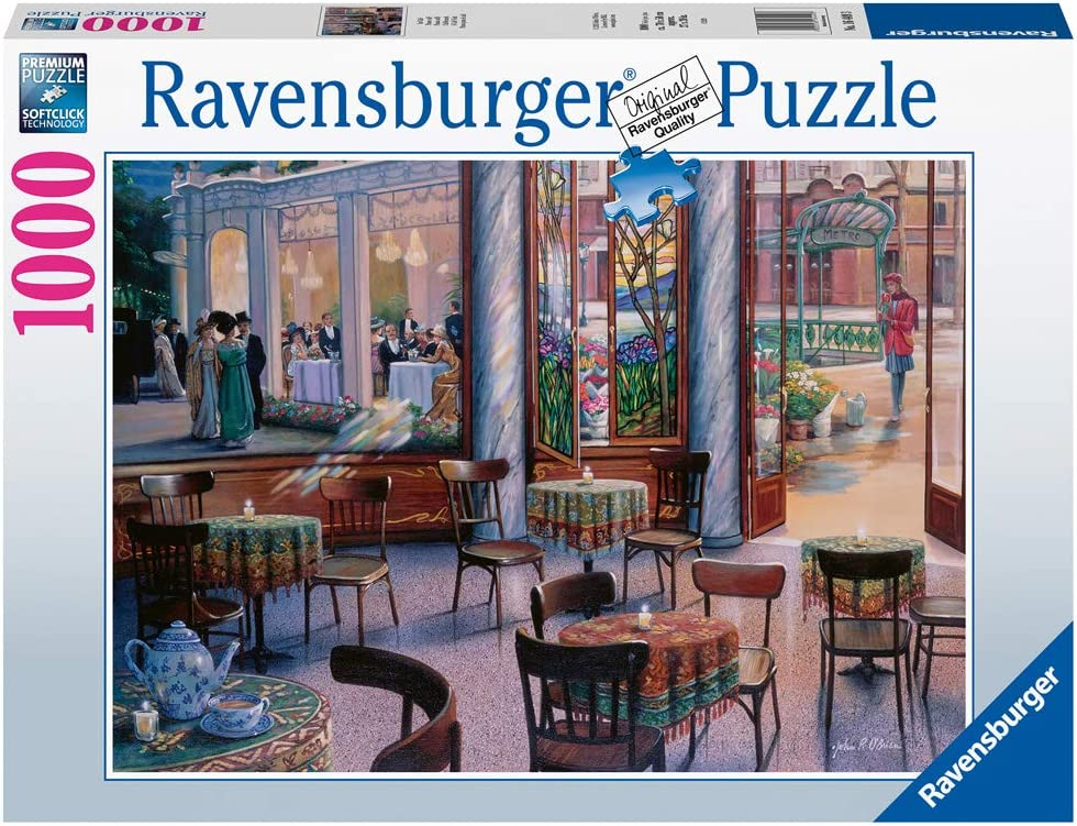 Ravensburger 16449 A Café Visit 1000 Piece Puzzle for Adults - Every Piece is Unique, Softclick Technology Means Pieces Fit Together Perfectly
