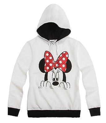 Disney Minnie Sudadera con capucha - Blanco - 164: Amazon.es: Ropa y accesorios