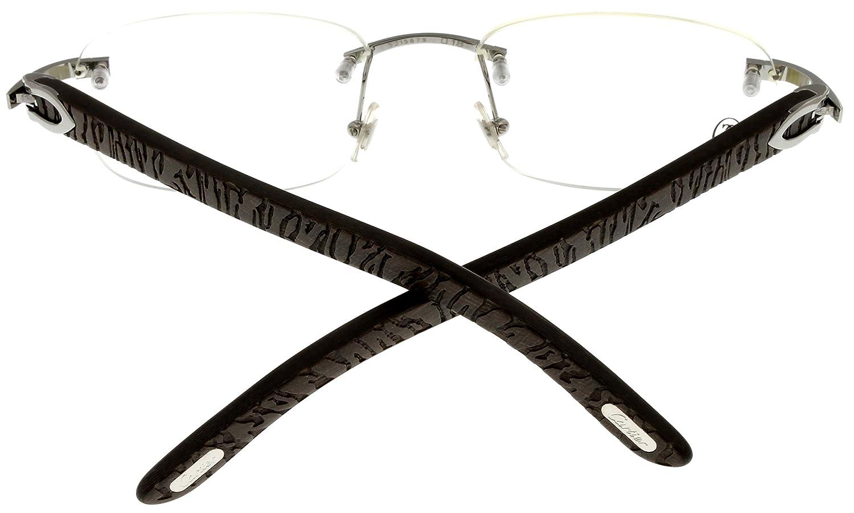 Amazon.com: Cartier Prescription Marco anteojos de madera ...