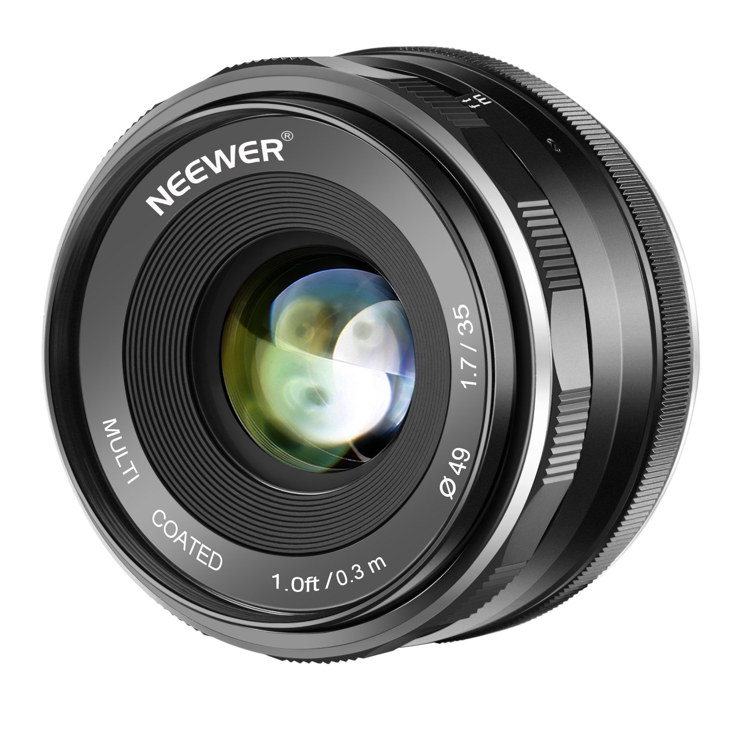 Neewer 35mm F/1.7 Large Aperture HD MC Manual Prime Fixed Lens APS-C for Canon EF-M Mount Lens EOS M Series Mirrorless Cameras M100/M10/M6/M5/M3/M2 by Neewer