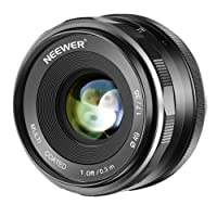 Neewer 35mm F/1.7 Large Aperture HD MC Manual Prime Fixed Lens APS-C for Canon EF-M Mount Lens EOS M Series Mirrorless Cameras M100/M10/M6/M5/M3/M2