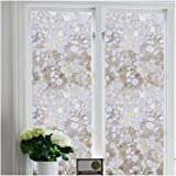 Bloss 17.7''x 78.7'' Privacy Static Cling Stained Glass Decorative Window Film