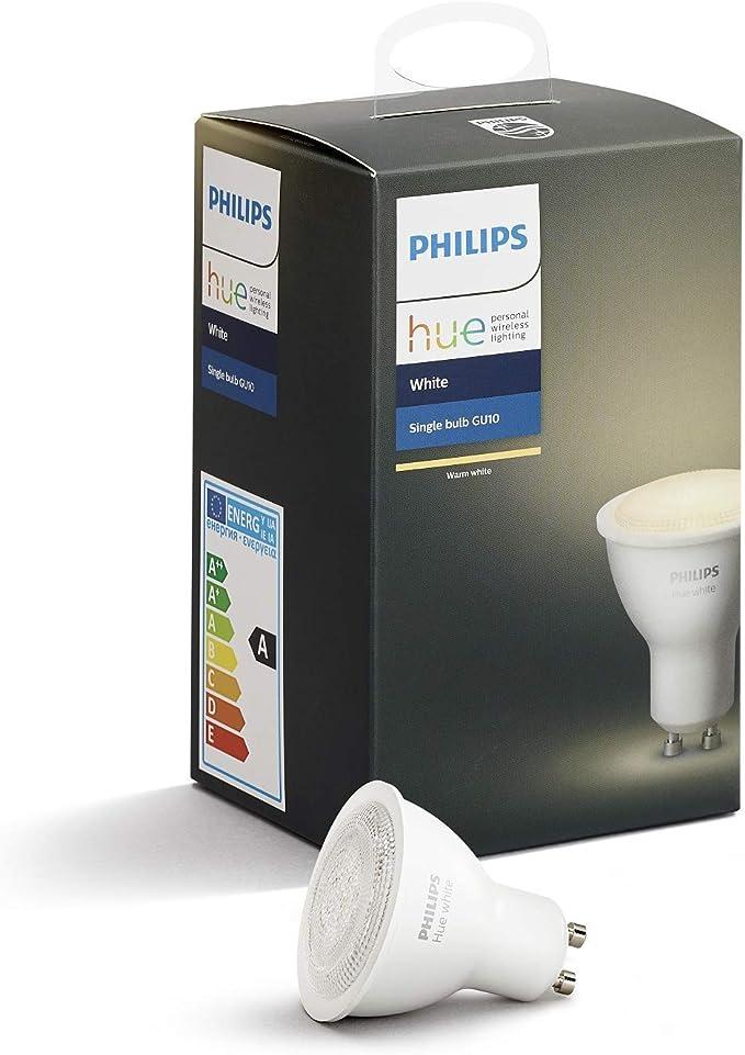 Philips Hue Bluetooth Bombilla Inteligente LED GU10, Luz Blanca ...