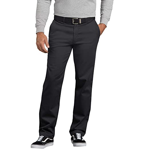 34ca5ee1 Dickies Men's Flex Active Waist Washed Chino Pant-Slim Taper Fit