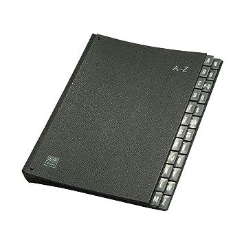 Elba 42414SW - Archivador de cartón con separadores de la A a la Z, color negro: Amazon.es: Oficina y papelería
