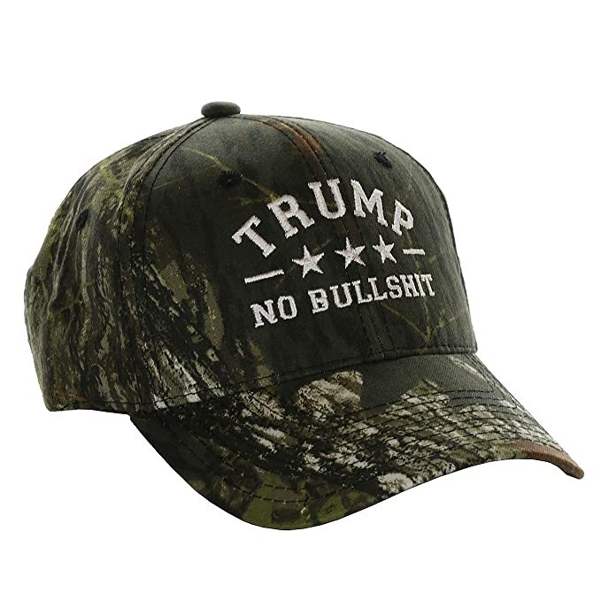 7c035b764 Donald Trump 2020 Keep America Great Hat No Bullshit Mens President 2020  Mossy Oak Hat Camo