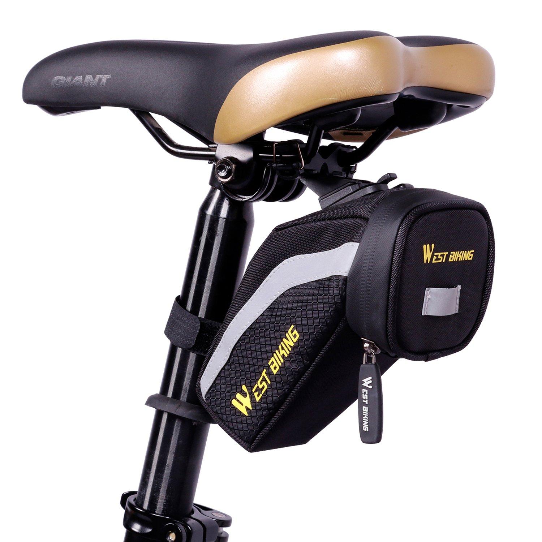 West Biking 防水自転車バックポケットサドルバッグ