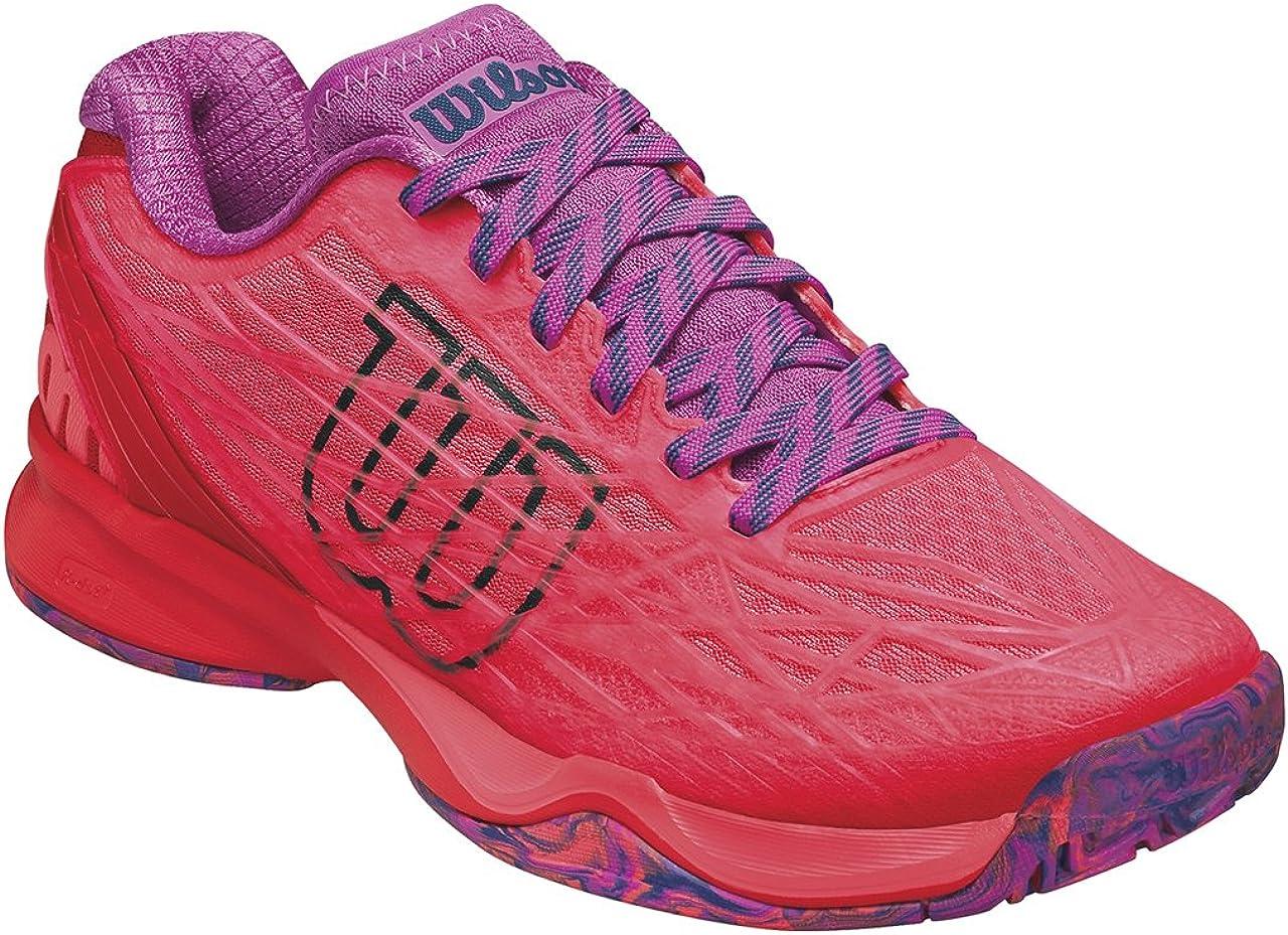 Wilson WRS323420E045, Zapatillas de Tenis para Mujer, Naranja (Fiery Coral/Fiery Red/Rose Violet), 37 2/3 EU