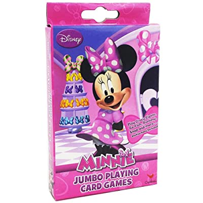 Disney Junior Minnie Mouse Bowtique Jumbo Playing Oversized Kids Card Deck (54 Piece), Multicolor: Toys & Games