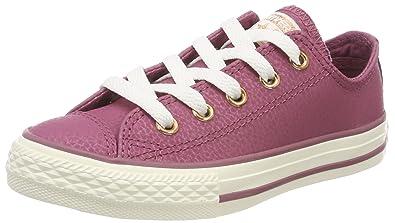 5cde2e1ed9ec27 Converse Unisex Kids  Chuck Taylor CTAS Ox Leather Fitness Shoes ...