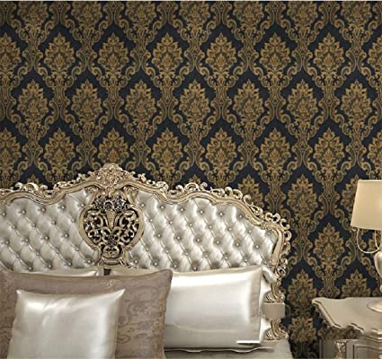 Buy Indian Royals Noble Royal Style Black Floral Damask Adhesive Wallpaper Vinyl Dresser Drawer Peel Stick Paper Sticker Sheet 100 Cm 60 Cm Online At Low Prices In India Amazon In