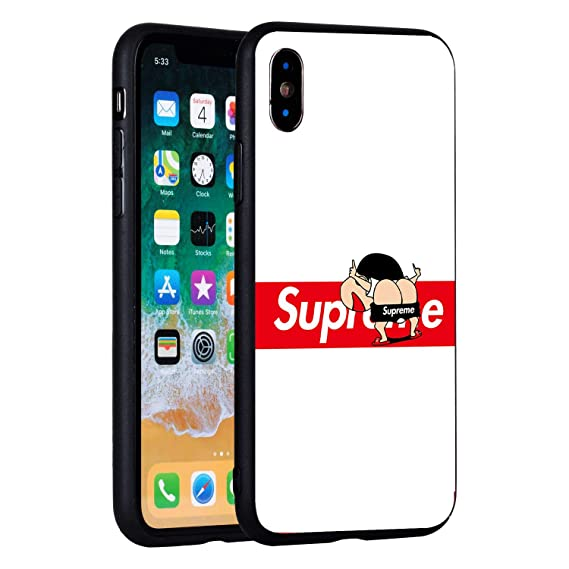 100% authentic 9d521 d9b71 Amazon.com: Supreme iPhone X Case, Tempered Glass Back Case, Supreme ...