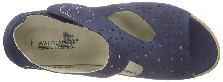 Waldläufer Damen Heliett Blau Offene Sandalen Blau Heliett (Denver Jeans) 415316