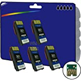 5 Pack of Black E2621 High Capacity Compatible (non-original) Ink Cartridges for Epson Expression Premium XP-510, XP-520, XP-600, XP-605, XP-610, XP-615, XP-620, XP-625, XP-700, XP-710, XP-720, XP-800, XP-810, XP-820