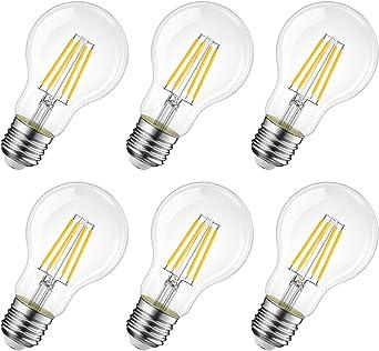 2 Pack E27 LED Bulbs 2700K Warm White 230V Non-dimmable Vintage Light Bulbs Filament Light Bulbs 4W Replace 40W
