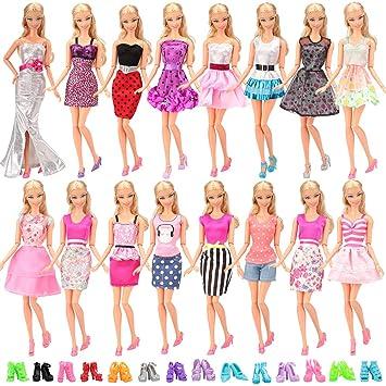 de20c5b02b30 Miunana 20 Pezzi  10 PCS Abiti Vestiti Gonne Camiciette Alla Moda Fashion +  10 PCS