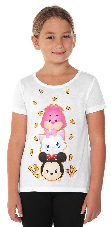 Disney Girls T-Shirt Minnie Mouse Halloween Glitter Tee - Choose Print