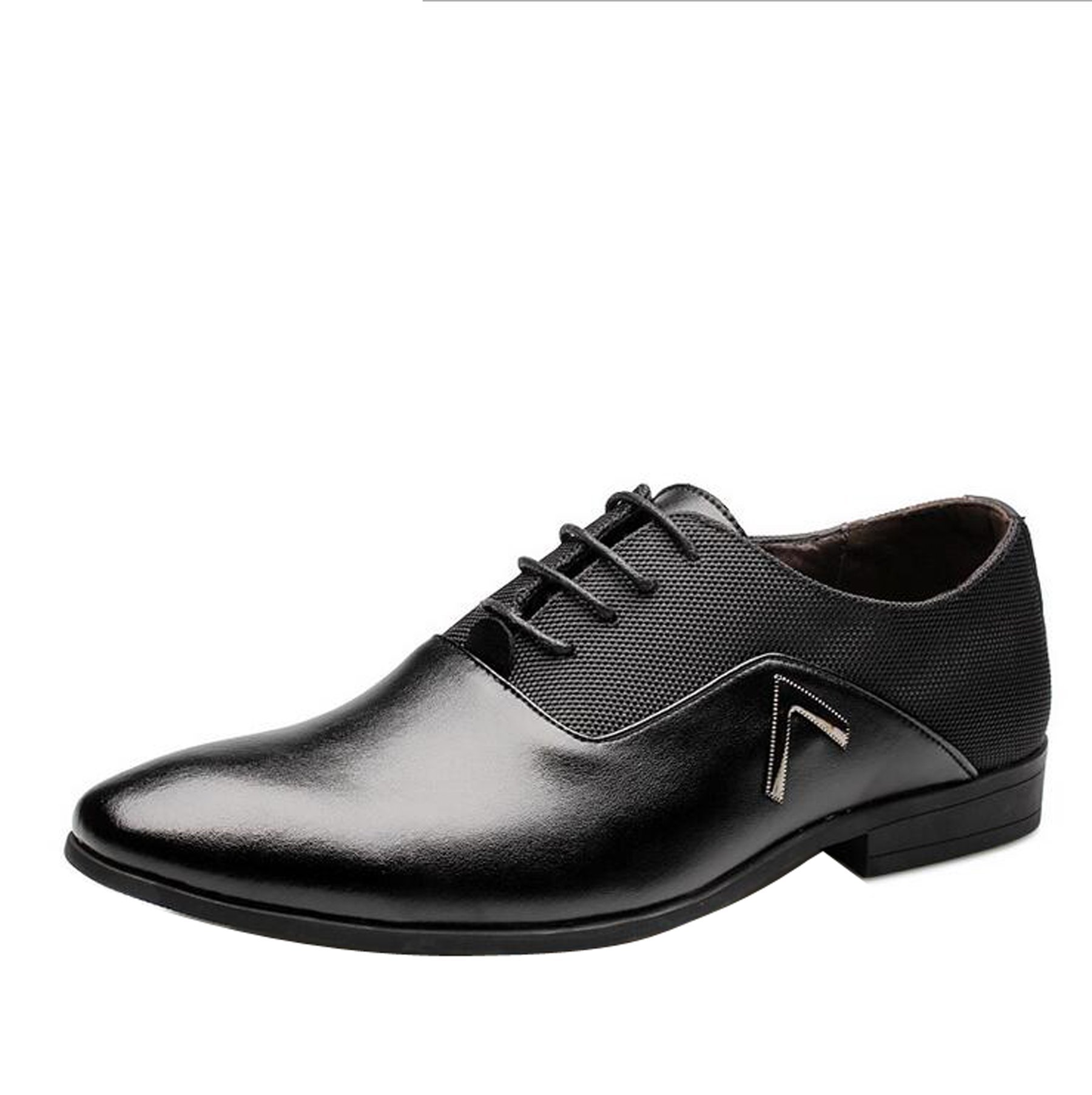 Men Pointed Toe Business Dress Formal Leather Shoes Flat Oxfords Loafers Slip On by Gaorui (Image #2)