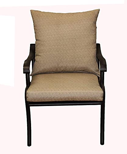 Comfort Classics Inc. Outdoor Deep Seating Set of 2 Outdoor Dining Chair Cushion Set of 2: Pillow: 22″ W x 22″ L x 5″ T Seat: 22″ W x 22″ L x 3″ T