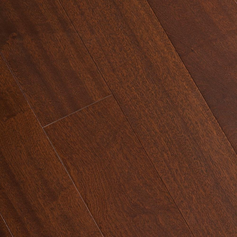 Matte Bailey Mahogany 3/8 in. Thick x 5 in. Wide x 47-1/4 in. Length Click Lock Hardwood Flooring (19.686 sq. ft. /case)