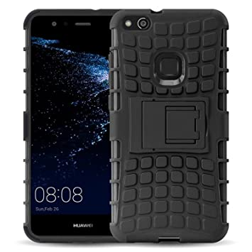 JAMMYLIZARD Funda Huawei P10 Lite, Carcasa Militar [ Alligator ] Alta Resistencia Heavy Duty Case Back Cover, Negro