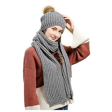 Jelinda - Ensemble Bonnet, écharpe et Gants - Femme - Gris - Taille Unique d943ef25f88