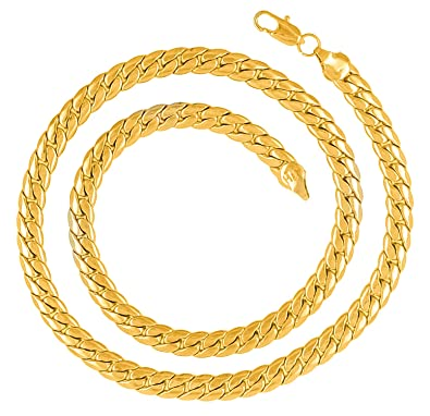 234ab83986c Saizen CH205 Dazzling Yellow Gold Chain For men/boys/boyfriend/husband &  unisex: Amazon.in: Jewellery