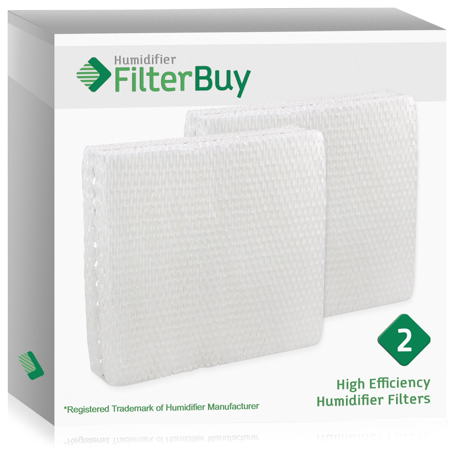 FilterBuy Replacement Humidifier Filters Compatible with Lasko THF15, Duracraft AC-809 & AC-815, Sears Kenmore 14809. Pack of 2.