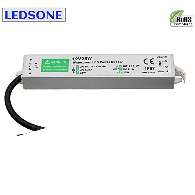 10/Watts/ /36/watts Ledsone /étanche IP67/ext/érieur Transformateur pour bande de LED module Powersupply en stock au Royaume-Uni Dc12V 30W 2.5A