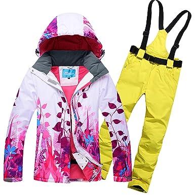 Joey Hombres Mujeres Trajes de esquí de Invierno a Prueba de ...