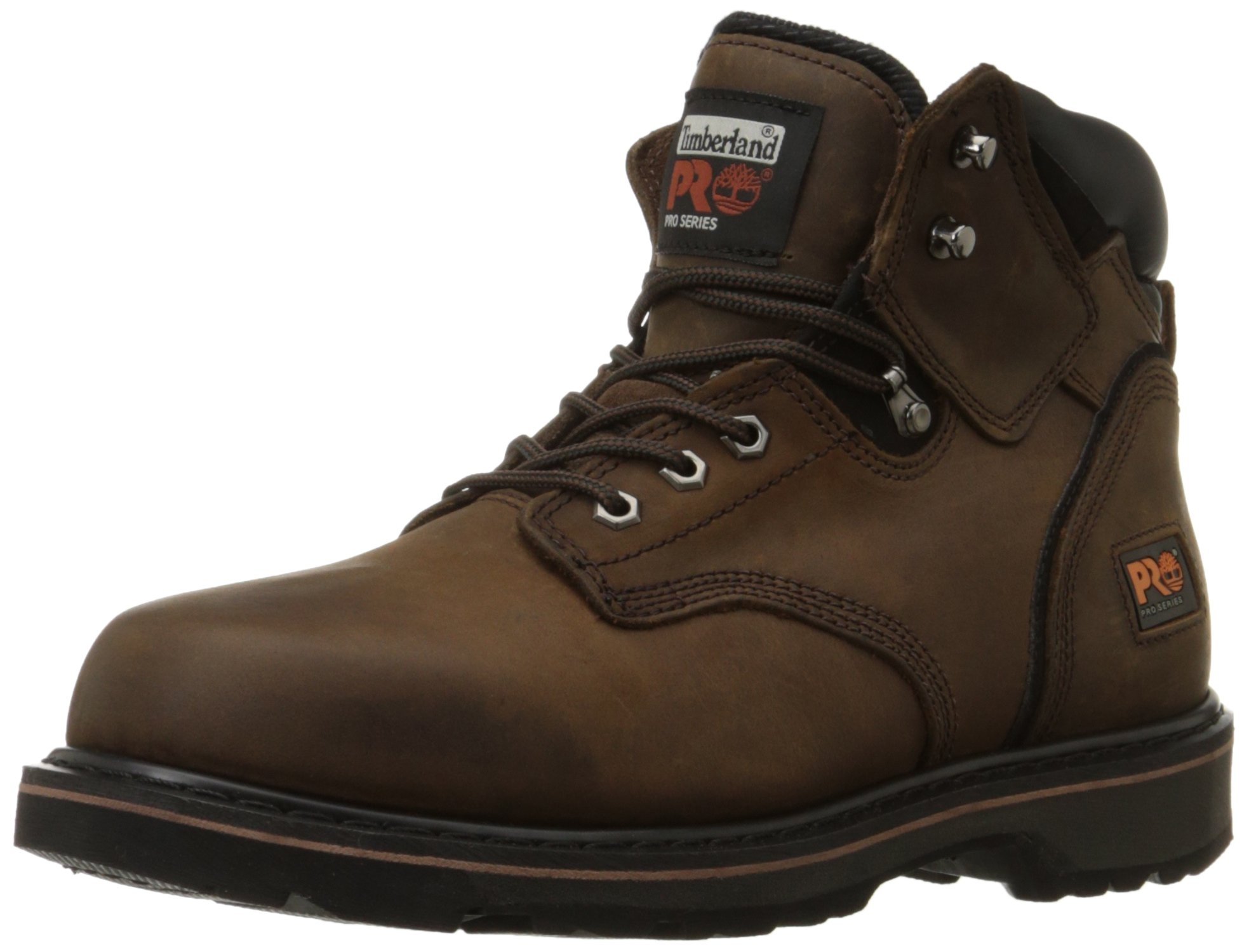 Timberland PRO Men's Pitboss 6'' Soft-Toe Boot,Brown,9.5 M by Timberland PRO