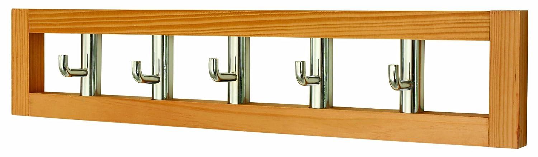 Headbourne Hr7025X - Perchero (5 ganchos giratorios, madera), color marró n claro color marrón claro Select Hardware HR0053X