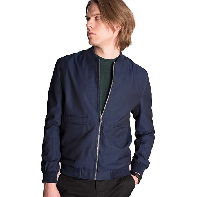 new authentic temperament shoes top-rated discount HARRY BROWN Smart Casual Blue/Black Bomber Jacket XS to 2X